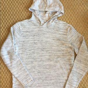 Calvin Klein Knit Hoodie Sweatshirt gray M